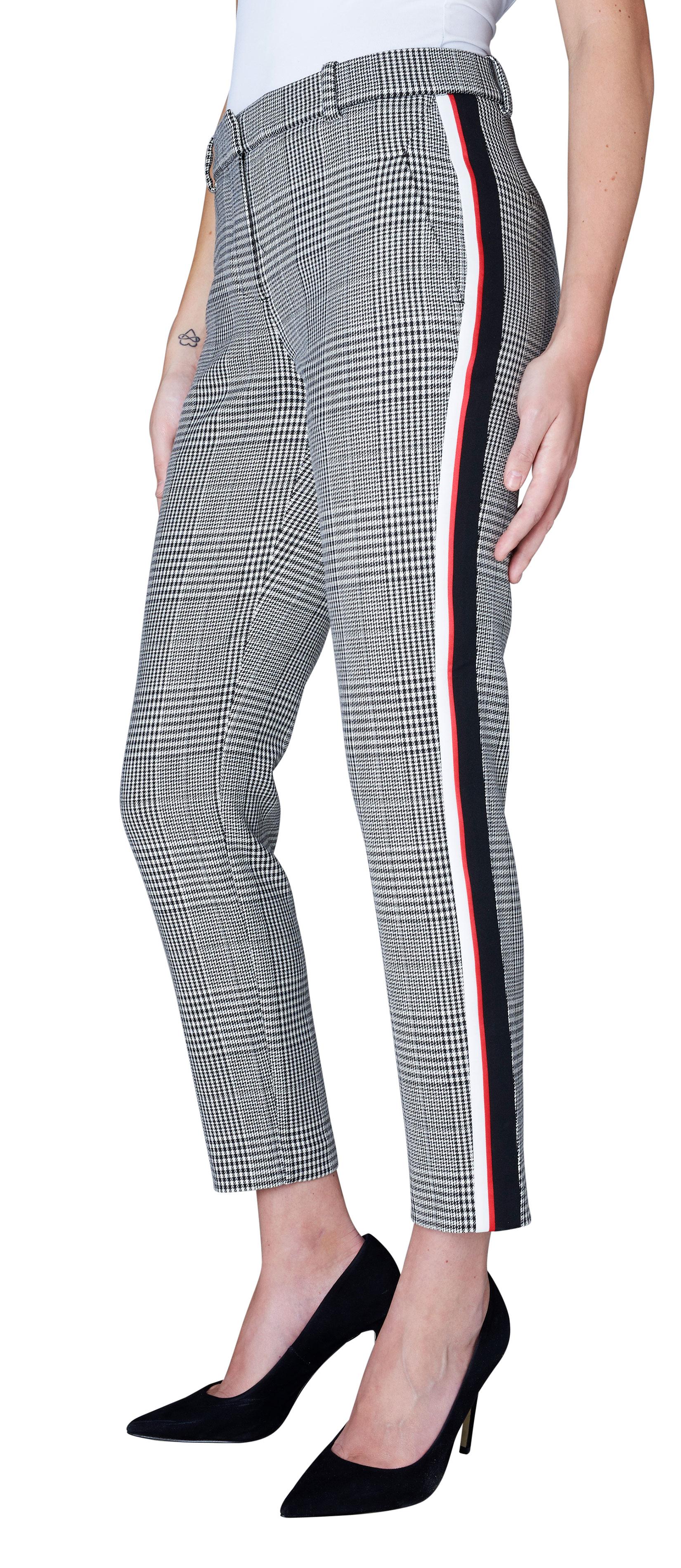 1a95a096 Fiveunits bukse Kylie med ruter – FiveUnits Kylie bukse med ruter og  striper i siden –