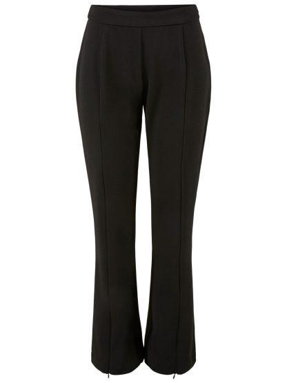 sort bukse med sleng – Y.A.S sort bukse med sleng og splitt – Mio Trend