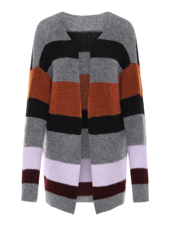 b0ca9f98 Strikkejakke med striper. Cardigan fra Yas. Strikket jakke til dame ...