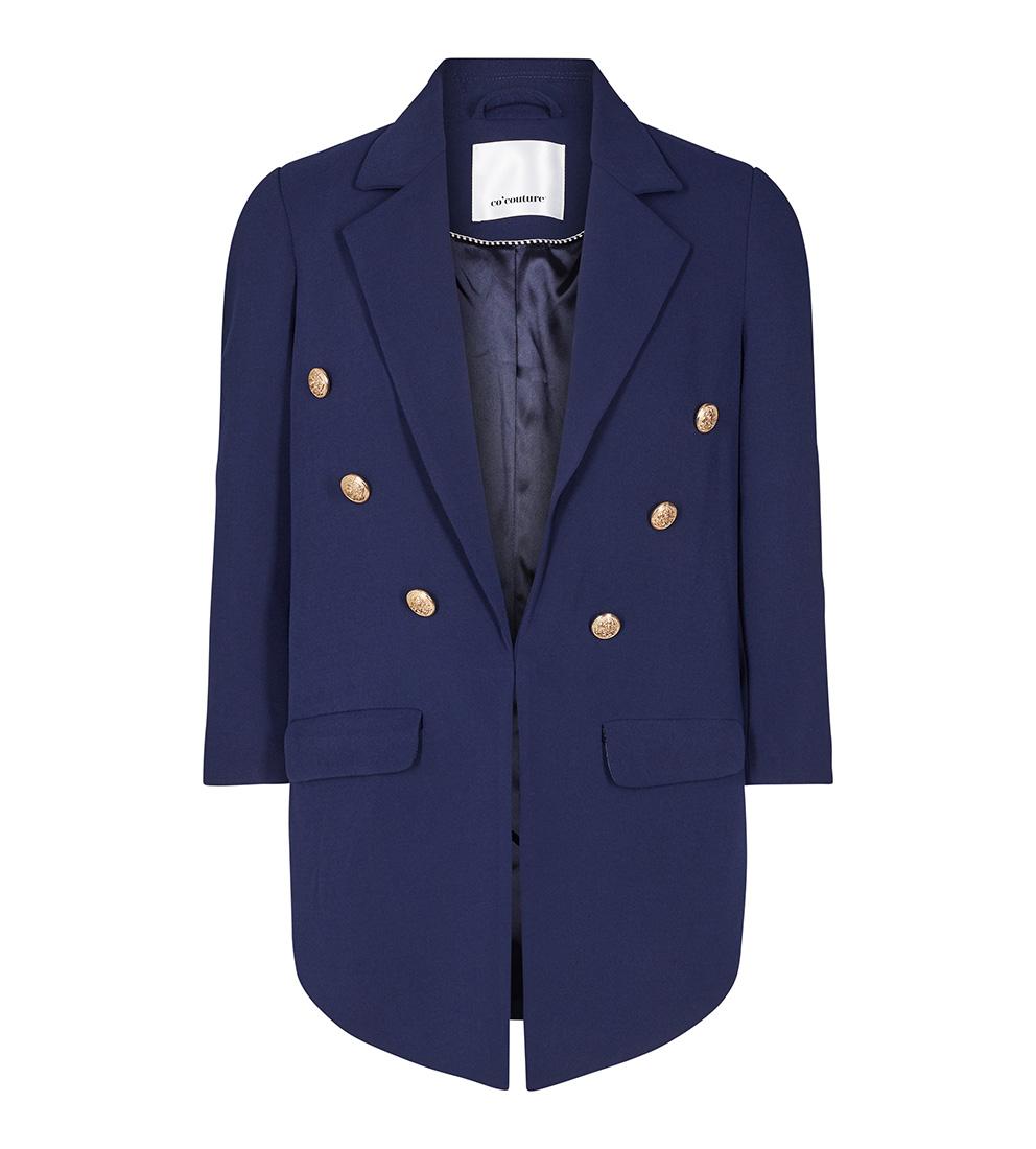 68117a5f Marineblå blazer til dame – Co`couture marineblå dressjakke med gullknapper  Audrey – Mio Trend