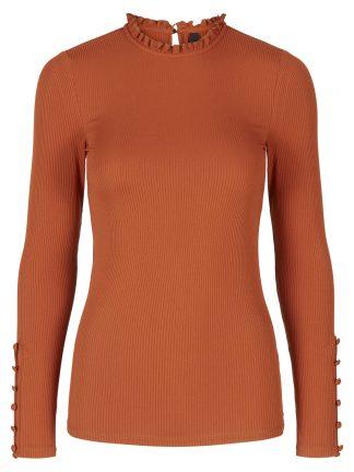 Oransje smal genser