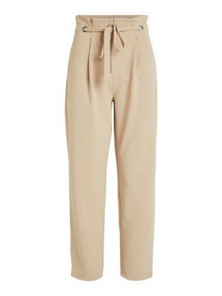 Vila beige bukse med høyt liv