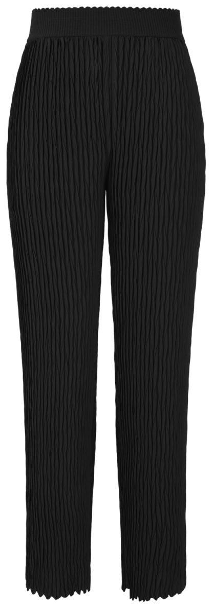Svart penbukse fra yas – Y.A.S sort bukse i plissè  – Mio Trend