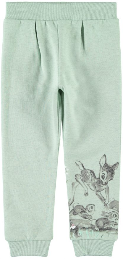 Name It bukse Bambi, mintgrønn – Name It mintgrønn joggebukse med Bambi – Mio Trend