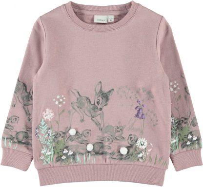 Rosa Bambi genser fra Name It – Name It rosa genser med Bambi – Mio Trend