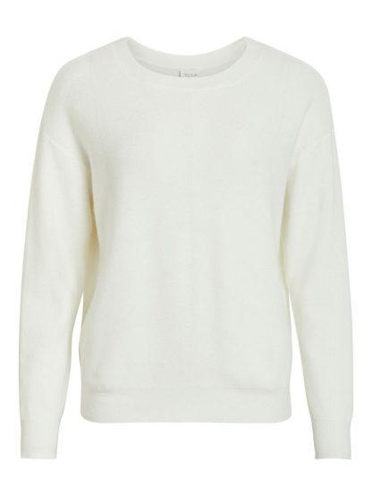 Vila genser off white – Vila off white genser Visally – Mio Trend