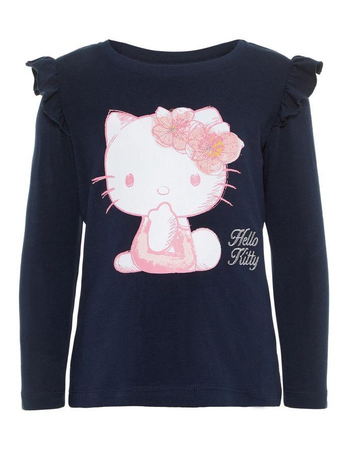 ea6499b9 Hello Kitty blå genser. Genser til barn med katten Hello Kitty. Name It
