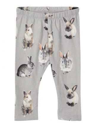 grå bukse med kaniner til baby
