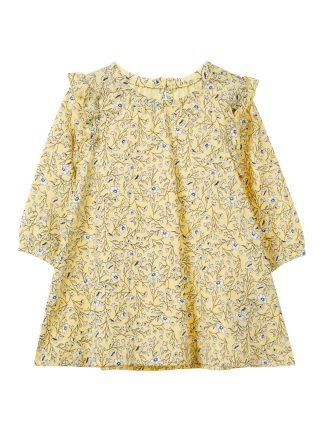 Gul kjole til baby fra Name It
