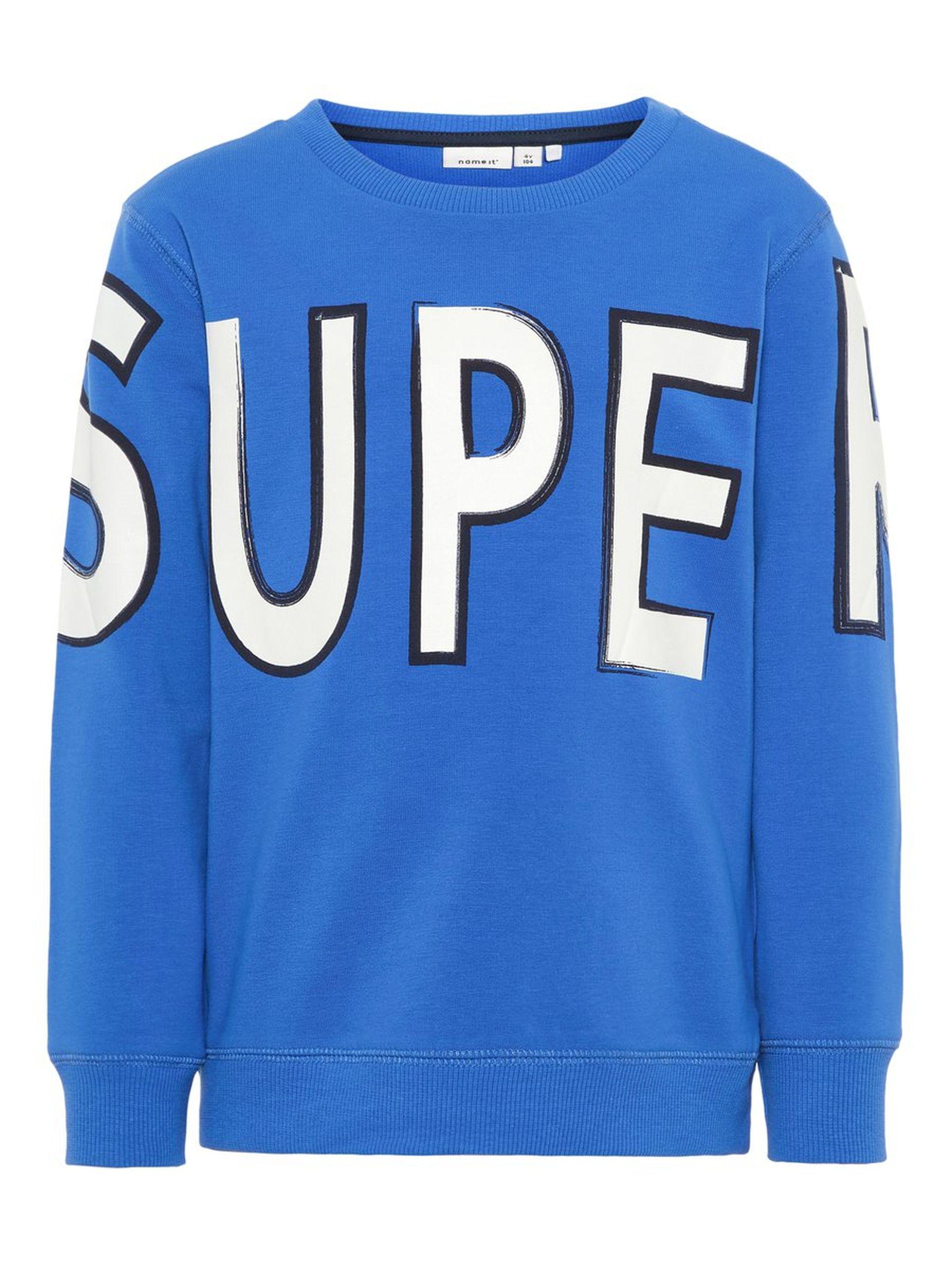e7ccfb79 Name It genser super, blå genser til barn fra Name It. Nameit barneklær.