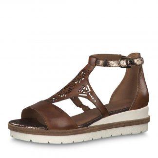 f978bb2e17f5 brune sandaler i skinn. kr 800.00 Kjøp · Rosa Tamaris sko
