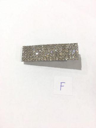 Flat hårspenne sølv