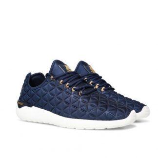 Asfvlt marineblå sko
