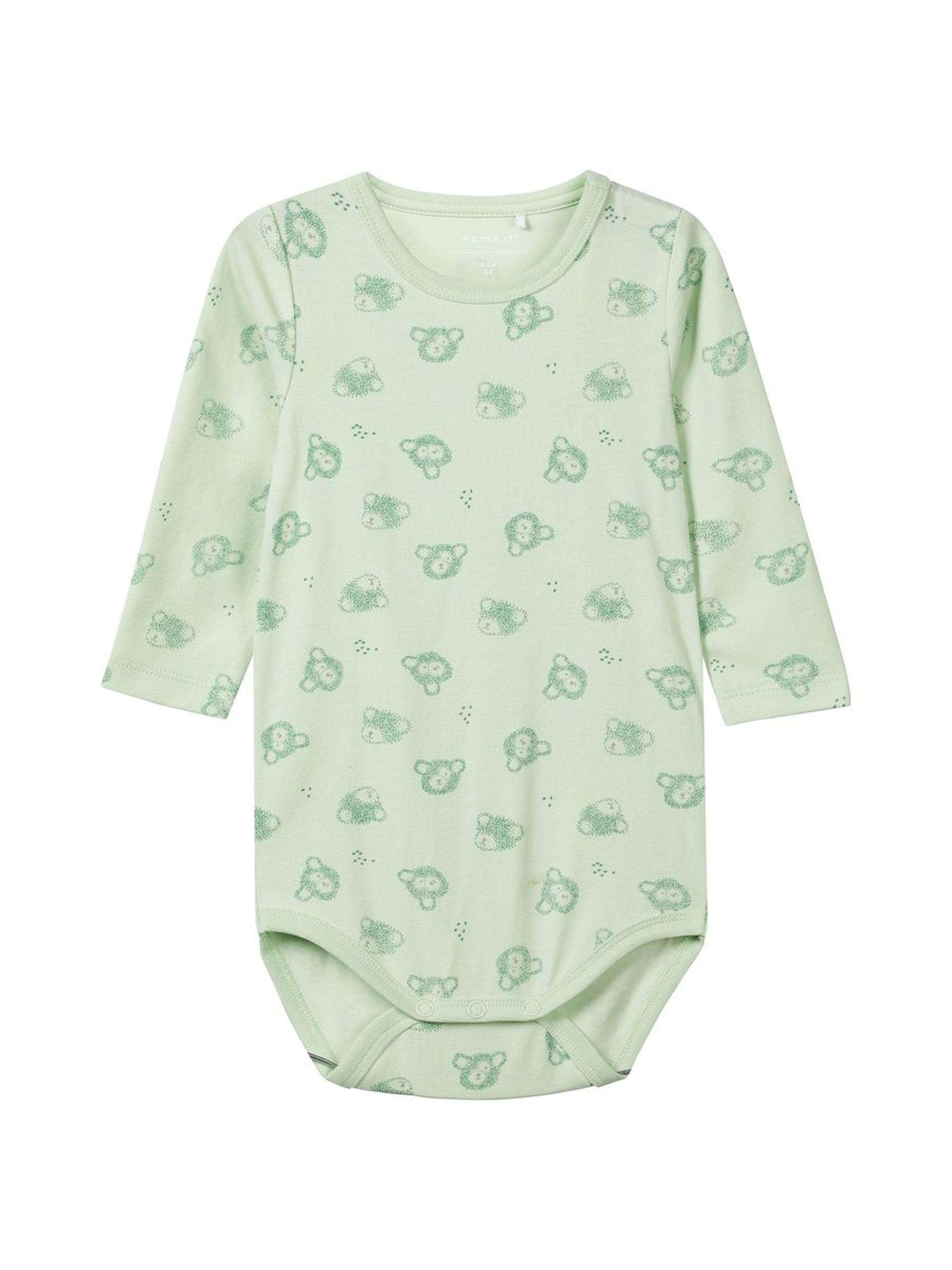 960f7456 Grønn body til barn. Lyse grønn body til baby fra Name It barneklær.
