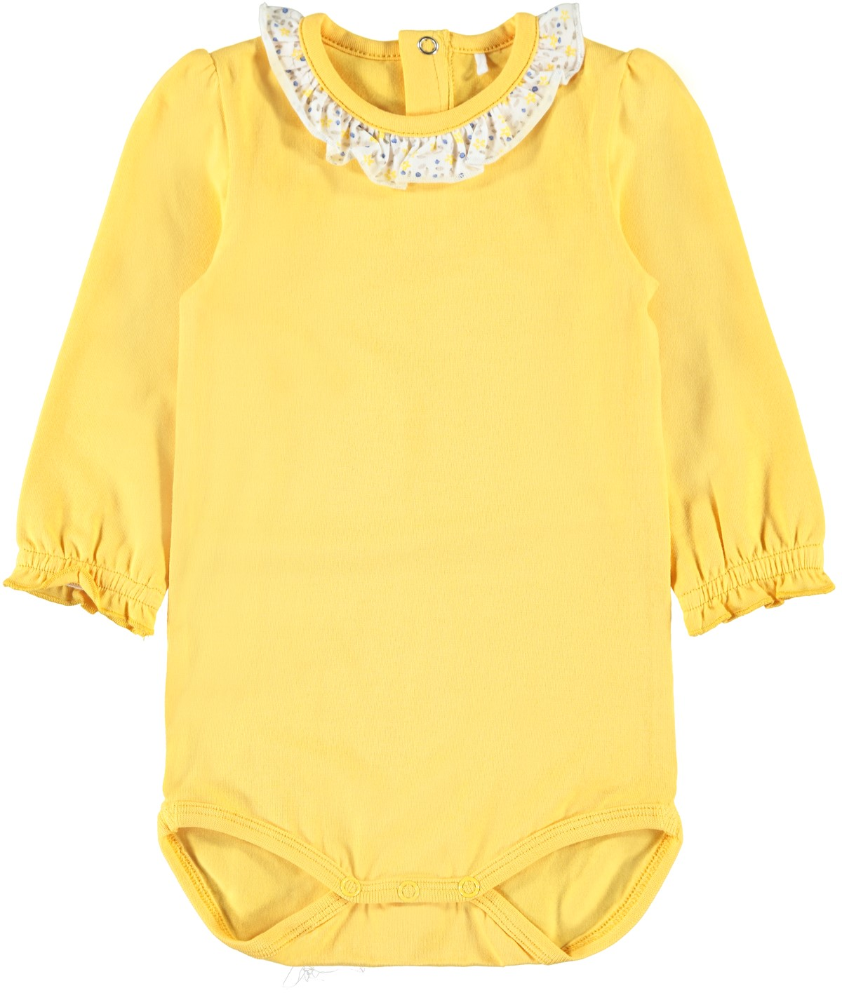 309f2952 Name It gul body. Gul body til baby jente. Klær til baby fra Name It.