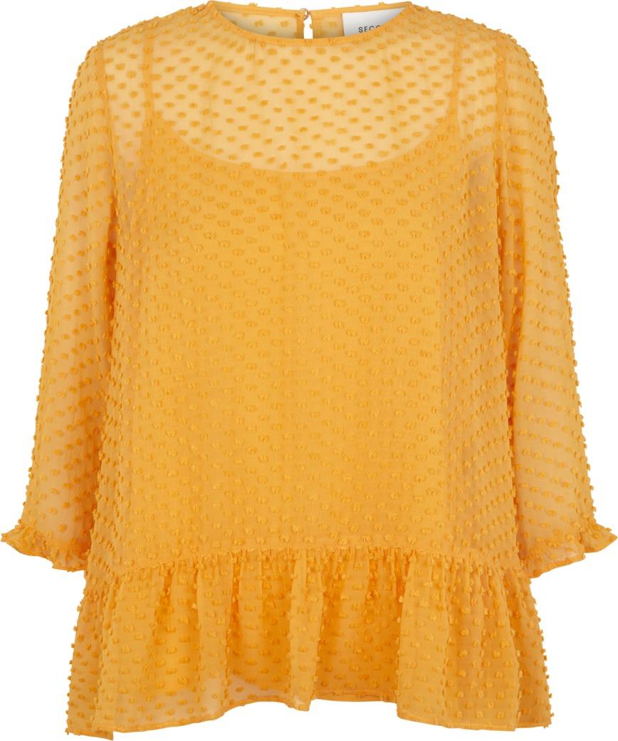 24cc194d Second Female bluse oransje – Second Female oransje bluse Jante – Mio Trend