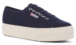 Superga marineblå sko