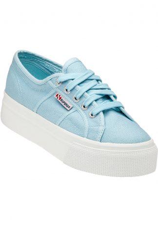 Superga lyse blå sko