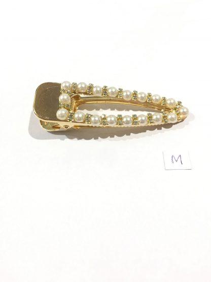Stor hårklype med perler – Zuzanna G hårspenne Pearly Bling gull – Mio Trend