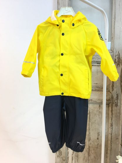 Name It regntøy – Regntøy regnsett gult og blått – Mio Trend