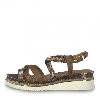 Tamaris sandal med gull