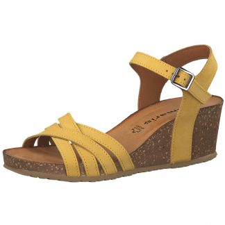 Tamaris sandal i skinn
