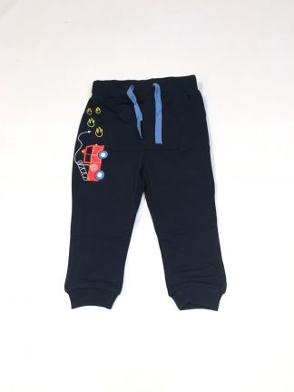 Blå bukse med brannbil