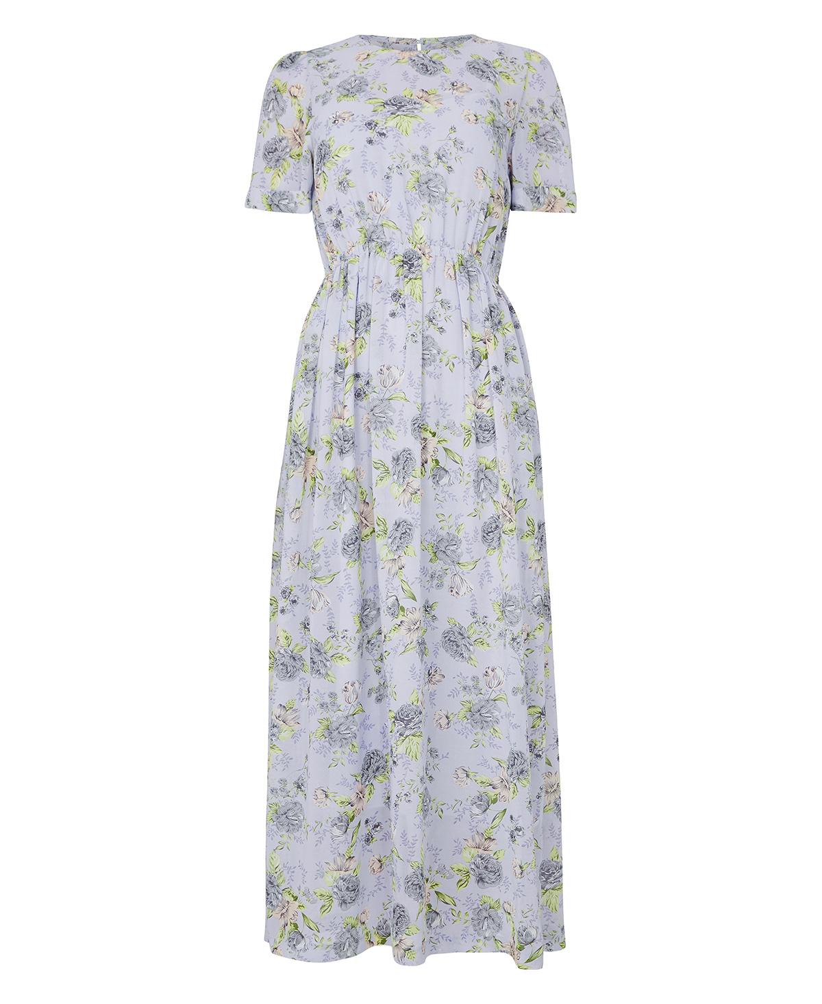Line of Oslo lilla kjole med blomster. Lang kjole