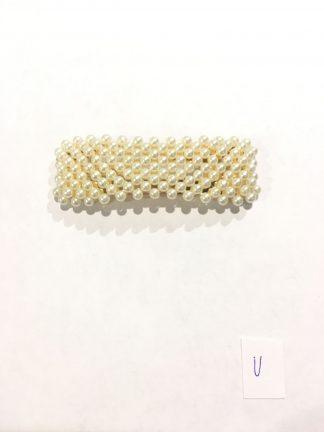 Hårspenne firkant perle