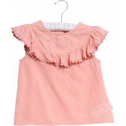 Wheat rosa topp – Wheat bluse med rysjer Benedikte – Mio Trend