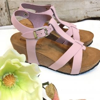 Rosa sandaler kilehel
