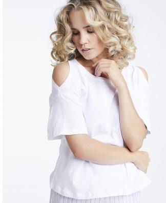 Line of Oslo hvit t-skjorte