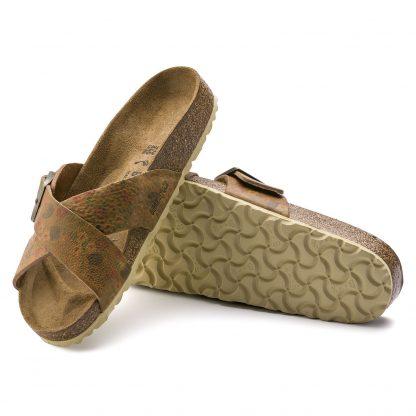 Brikenstock brune sandaler – Birkenstock sandal Siena vintage flower – Mio Trend