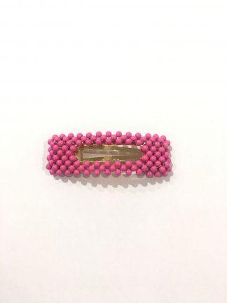 Hårspenne perle rosa