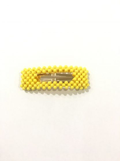 Zuzanna G gul hårspenne – Zuzanna G gul hårspenne firkant perle – Mio Trend