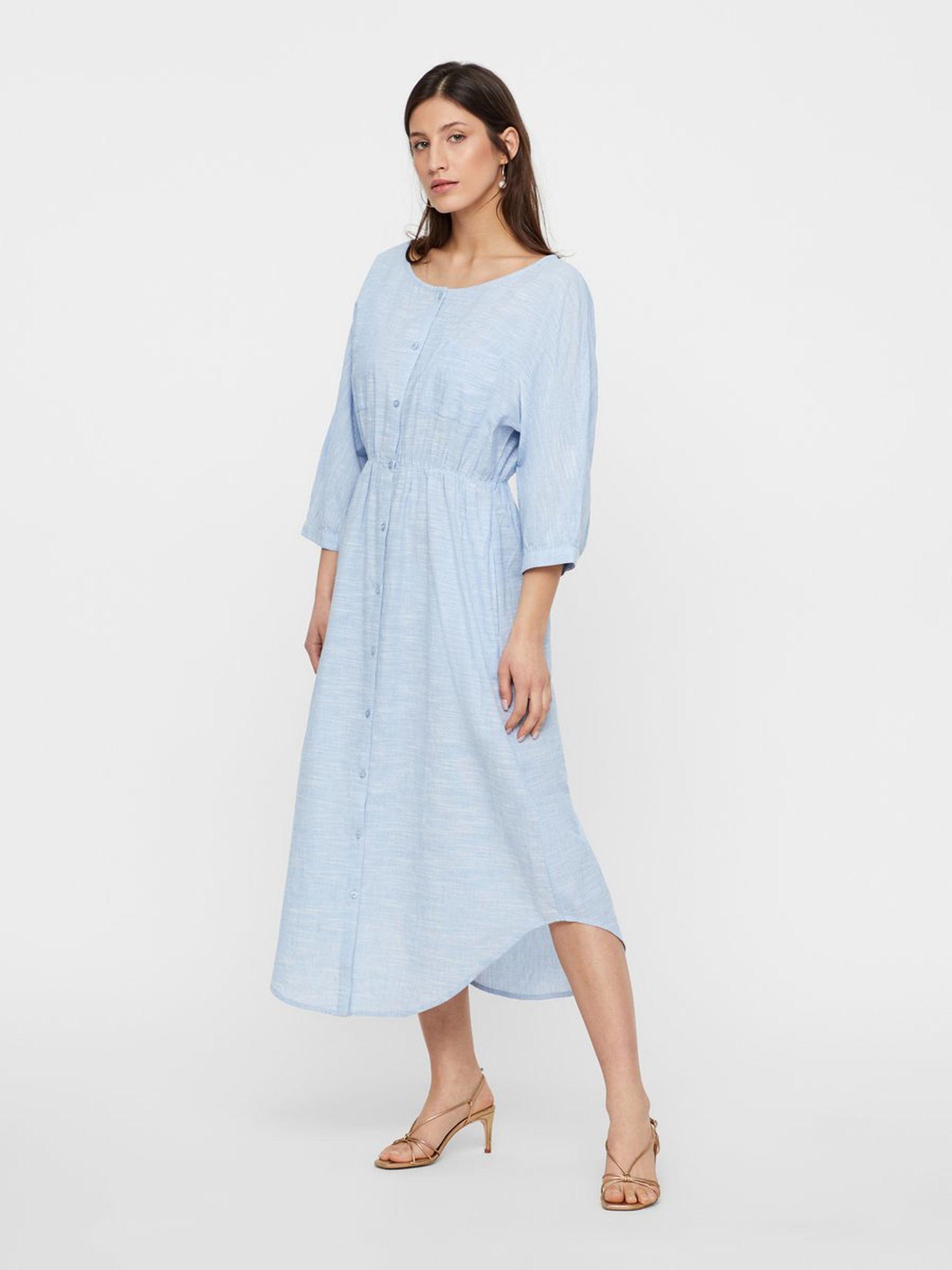c886ba65 Lyse blå kjole – Y.A.S lyse blå skjortekjole Yasjamia – Mio Trend