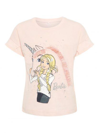 Barbie t-skjorte Name It – T-skjorter rosa t-skjorte med Barbie – Mio Trend
