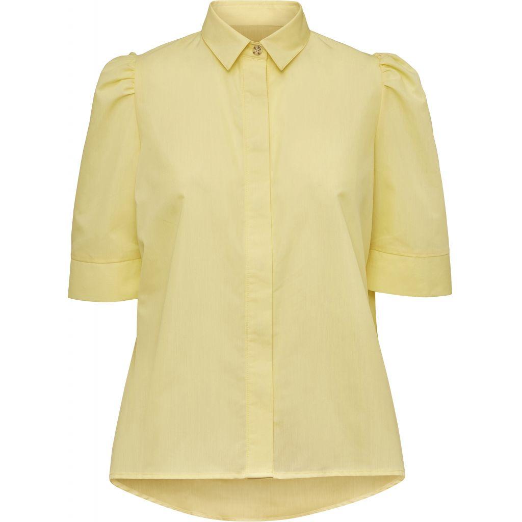 8ff3c8c4 Norr gul bluse med puffarmer. Bluser med korte armer. Billie bluse Norr