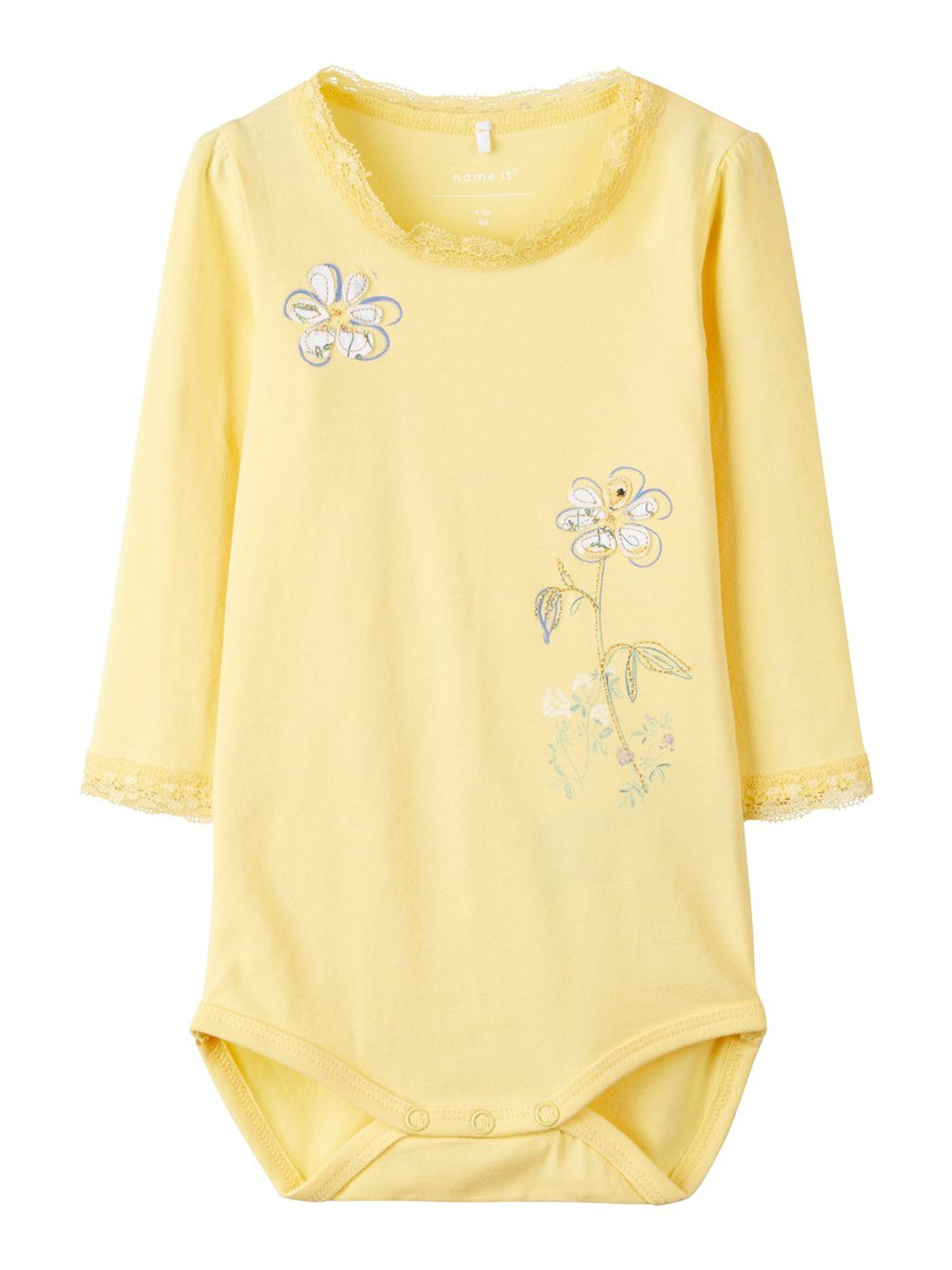 9d77f7d5cd10 Gul body til baby – Name It gul body med broderier – Mio Trend