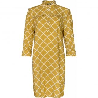 Okergul kjole