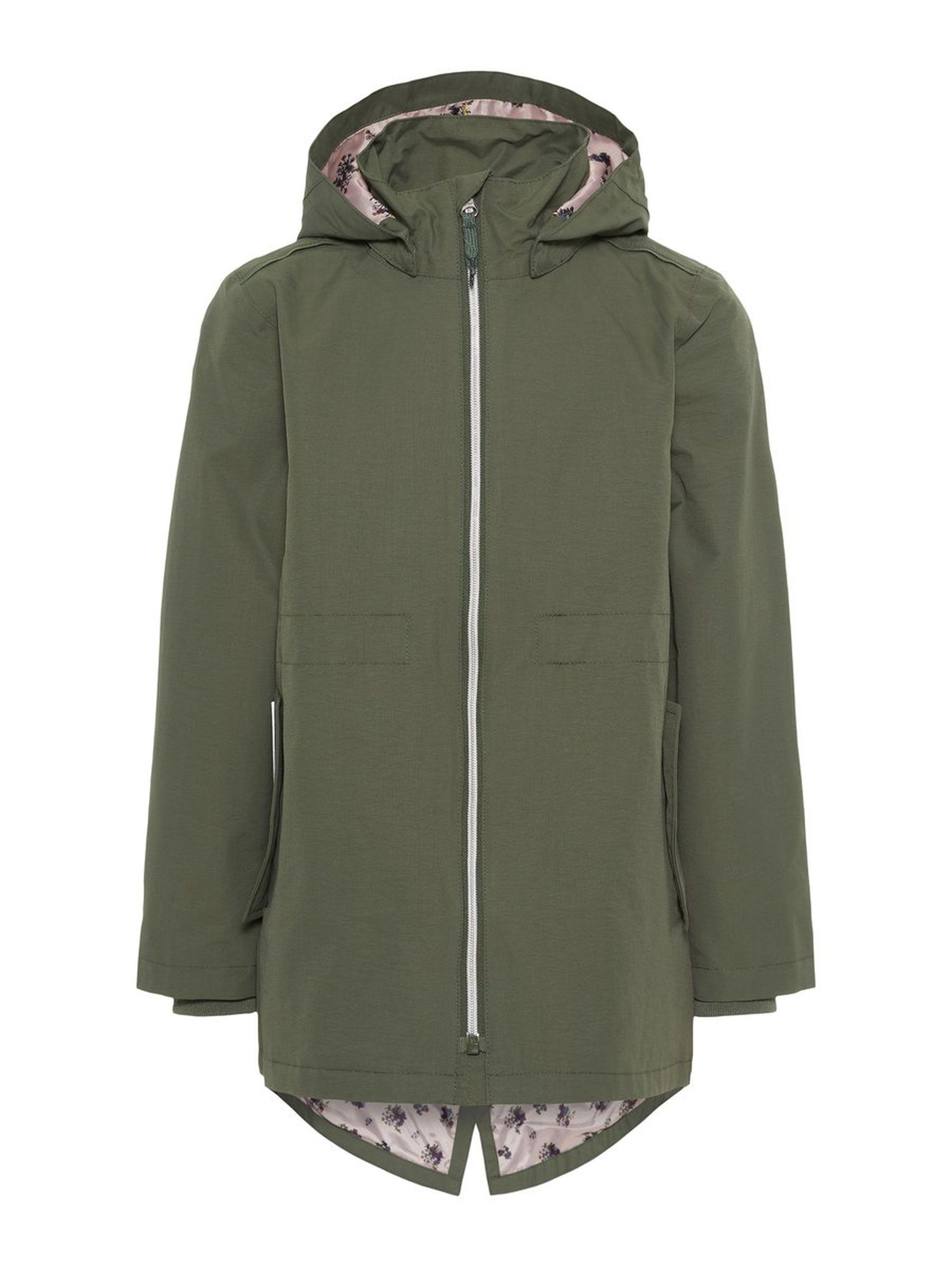 3f0eb36e Vårjakke til barn, jente fra Name It. Grønn jakke som vindtett og ...