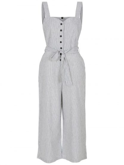 Jumpsuit i lin – Y.A.S jumpsuit med striper – Mio Trend