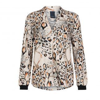 Bluse leopardmønster