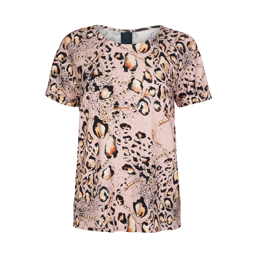 a0f9236d T-skjorte leopardmønster – Luxzuz One Two rosa t-skjorte med mønster – Mio