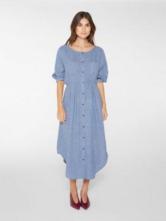 Blå skjortekjole