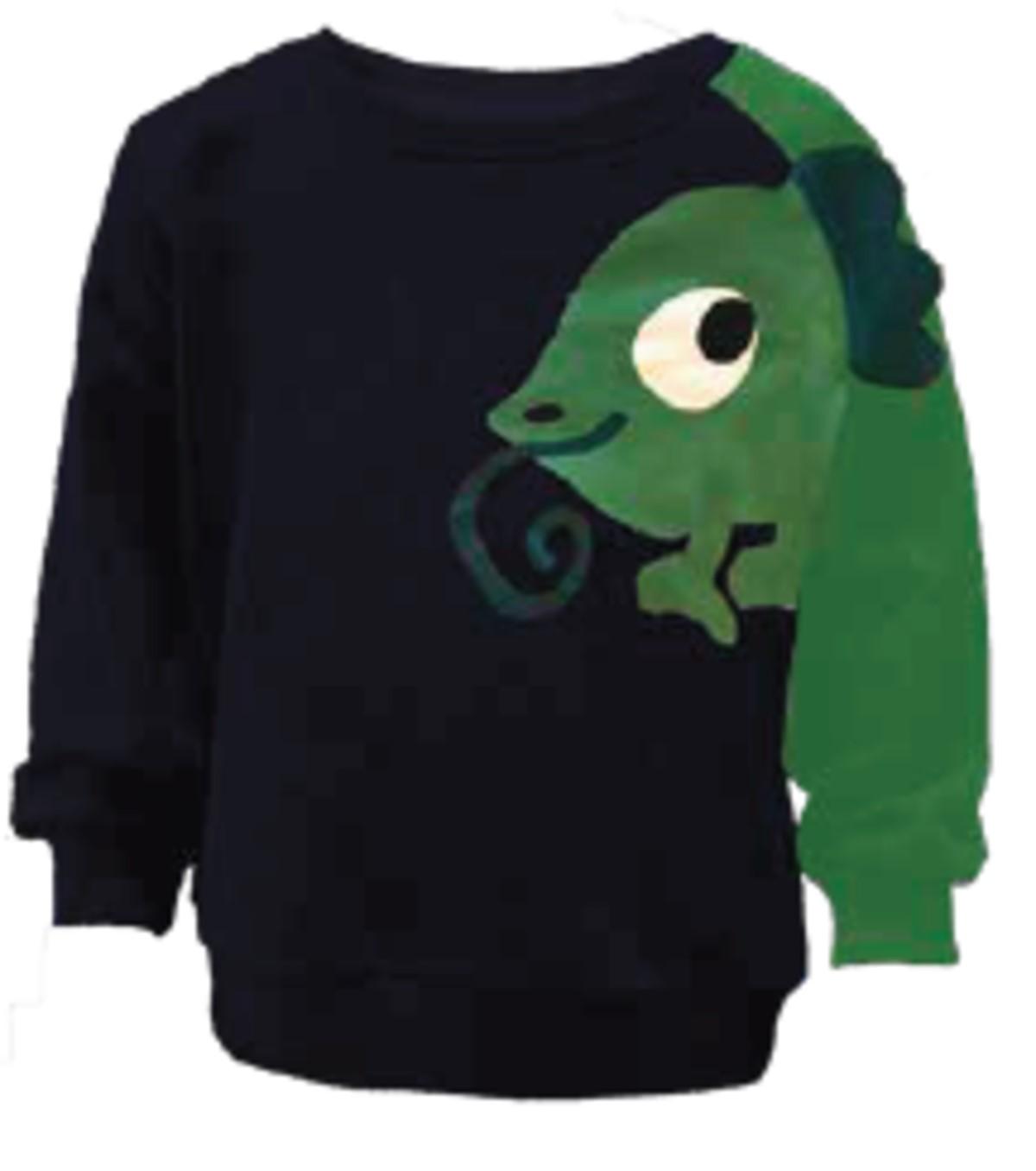 457bb078 Name It collegegenser blå med grønn gekko. Klær fra Name It, genser.