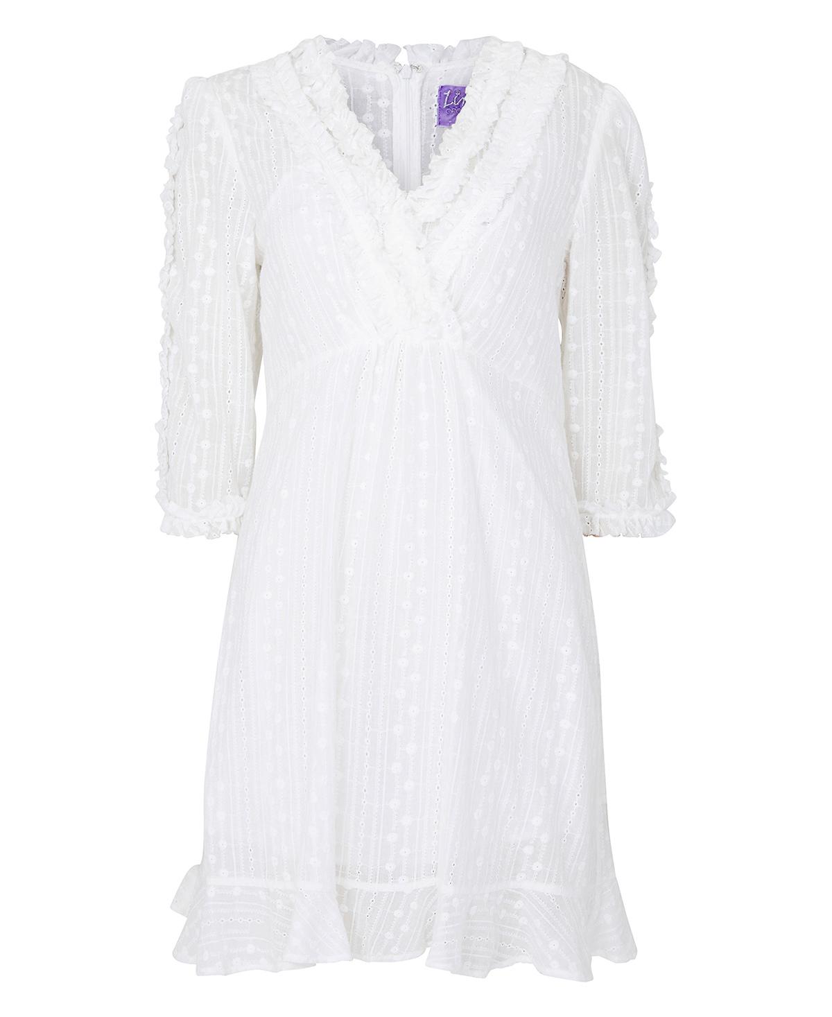 0e495615 Hvit kjole Line of Oslo – Line of Oslo hvit blondekjole Zelena – Mio Trend