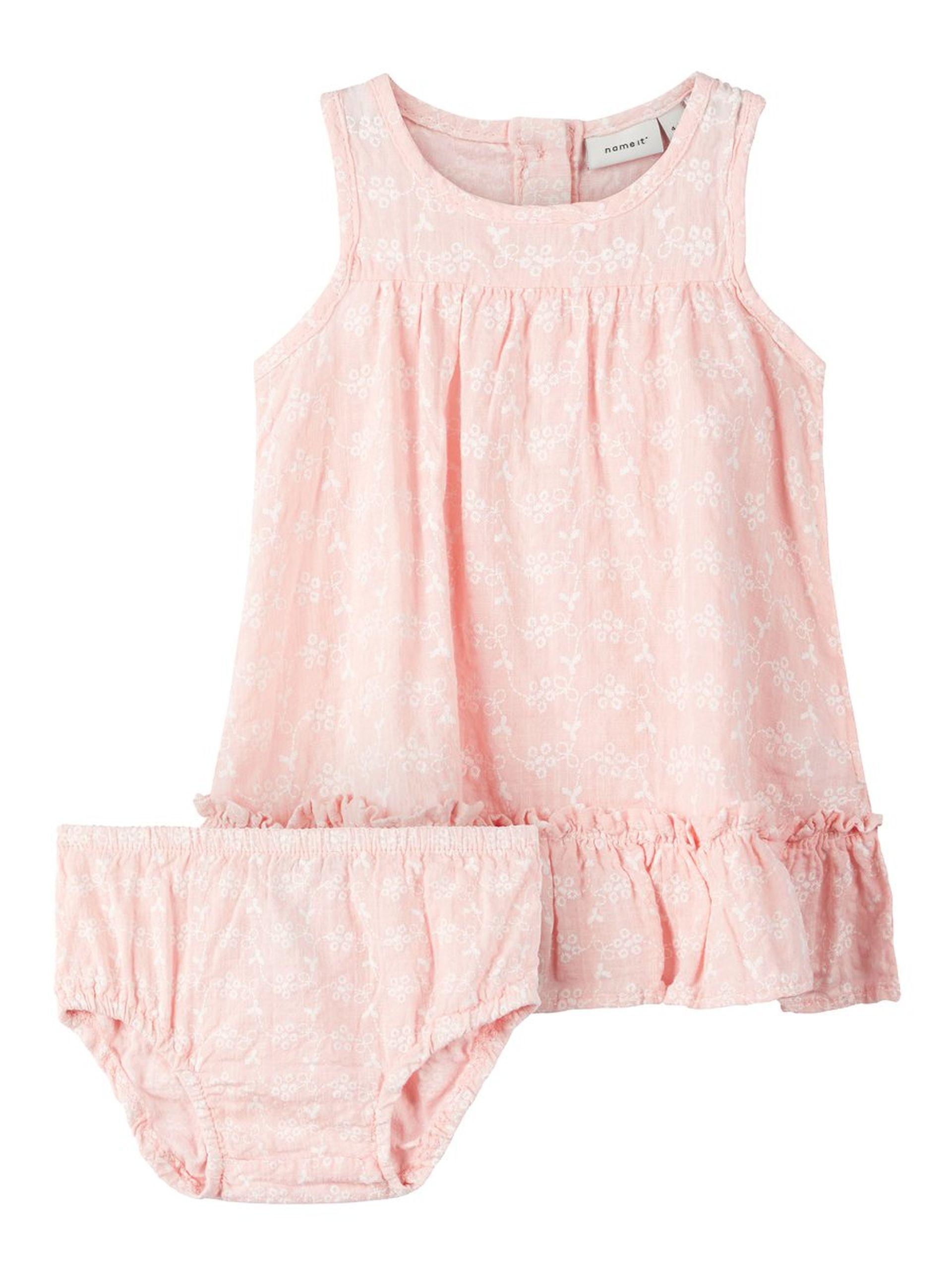3ce38472 Name It kjole baby, rosa kjole med matchende truse. Kjole til baby ...