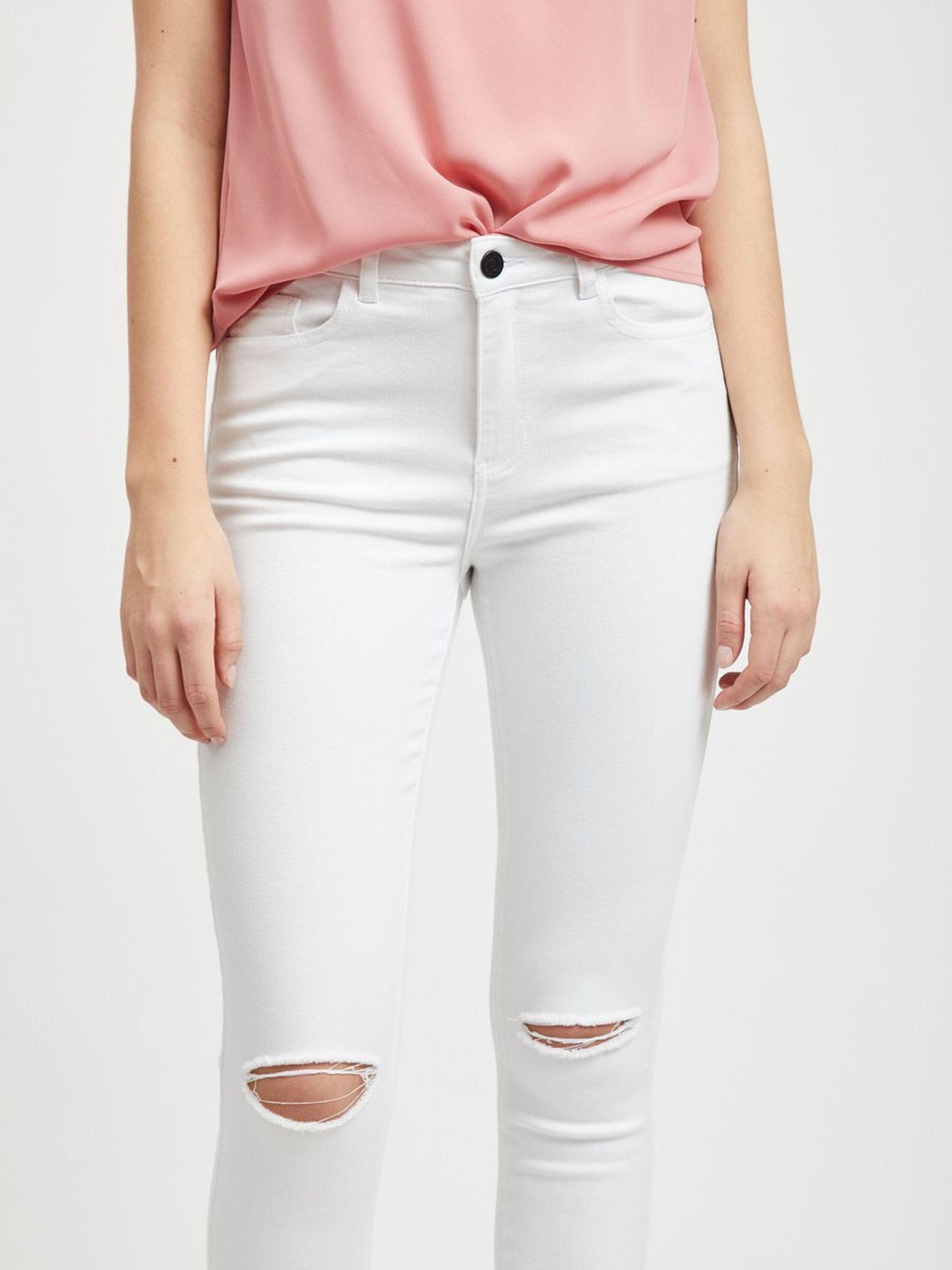 hvit bukse med hull MioTrend