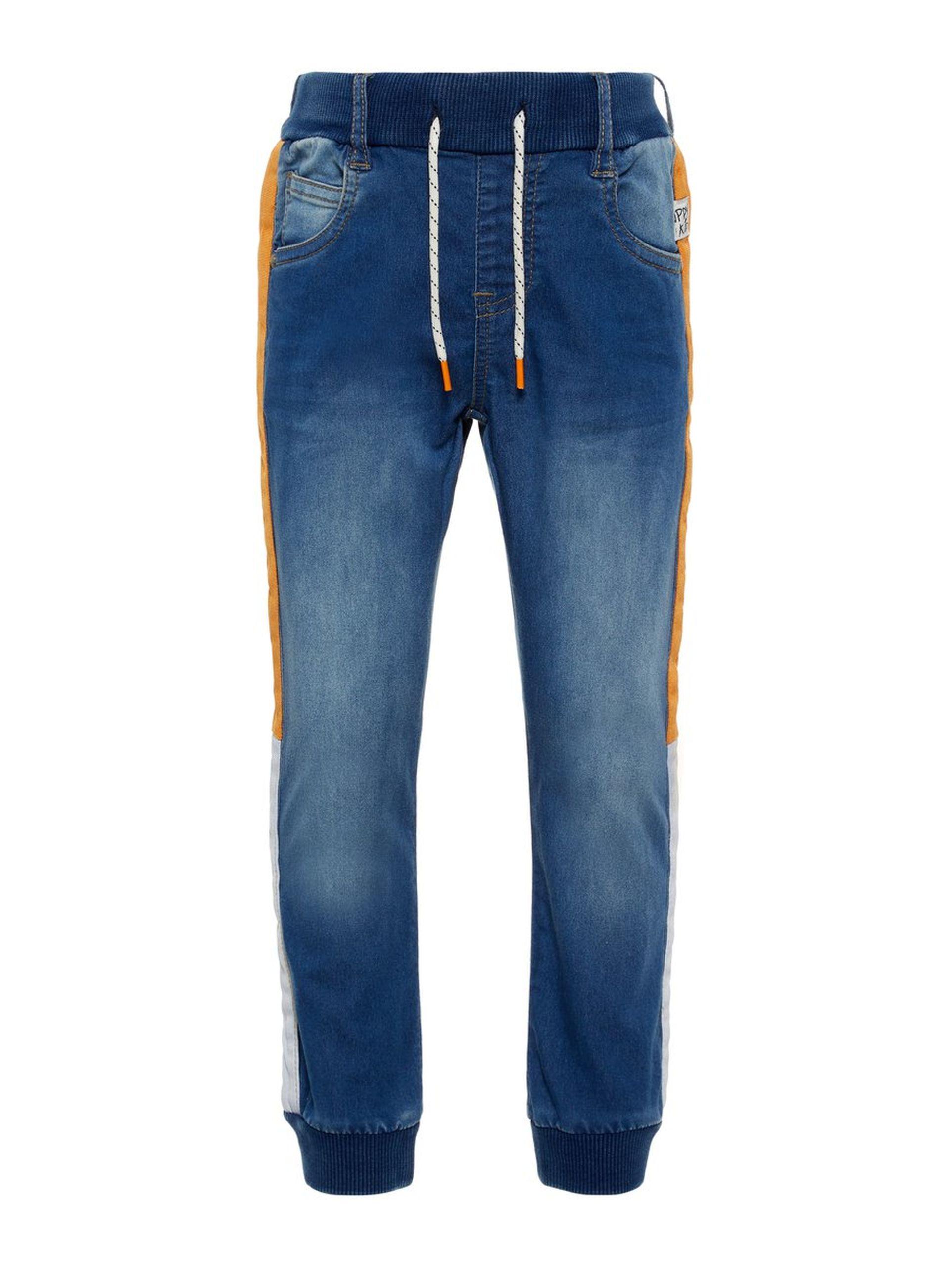 24f3d845 Name It bukse gutt – Name It denimbukse med oransje striper – Mio Trend